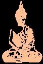 Lotus méditatif et assis
